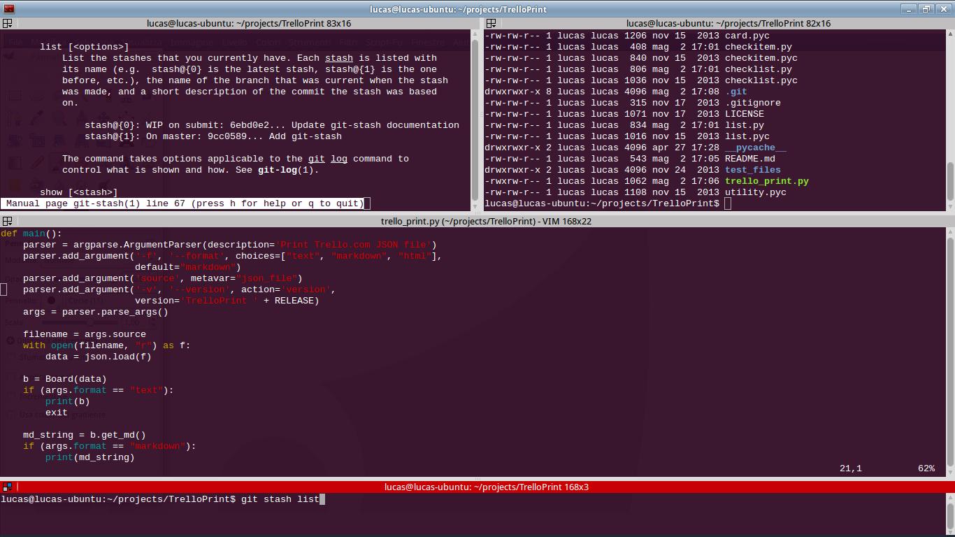 Terminator - Multiple GNOME terminals in one window